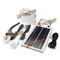 7W 9В портативная система Комплект солнечного освещения мощность внутреннего/наружного освещения