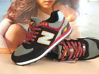 Кроссовки для бега New Balance 574 черный/хаки 43 р.