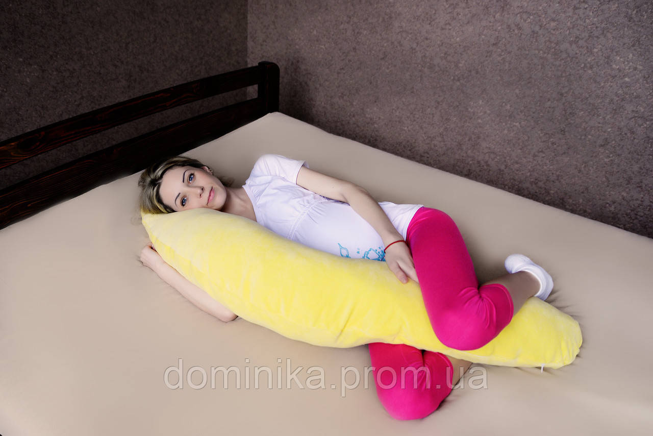 Подушка Банан велюровая 2в1 (холофайбер) - Товары для дома,отпариватели, аэрогрили,прокладки,товары для детей  «ДОМИНИКА» в Чернигове