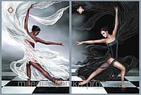 Схема для вышивания бисером Черное и белое (диптих) СЛТ-2209