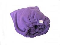 Набор (чехол+плед+варежки+носочки) махра-флис Фиолетовый