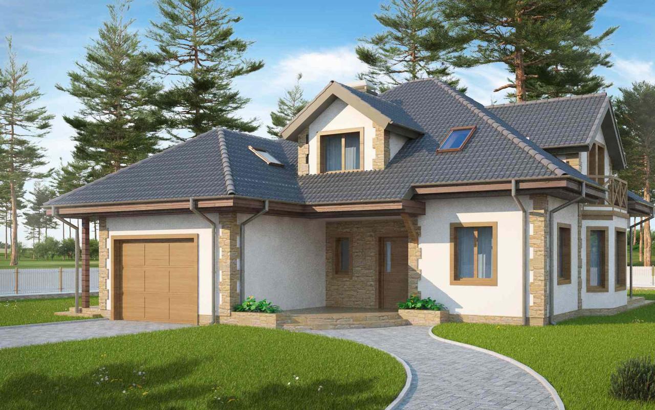 Строительство коттеджей и малоэтажных домов. Проект Дома № 2,62