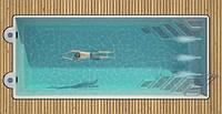 Бассейн композитный WANAKA 1050 (стоимость чаши указана для базовой комплектации бассейна)