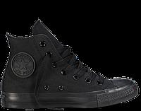 Кеды унисекс Converse All Star High Top Черные Mono