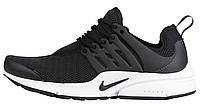 Мужские спортивные кроссовки Nike Air Presto Найк Аир Престо черные/белые