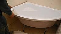 Установка акриловых ванн угловых