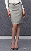 Женская теплая юбка-карандаш серого цвета. Модель Aris Zaps. Коллекция осень-зима 2016-2017.