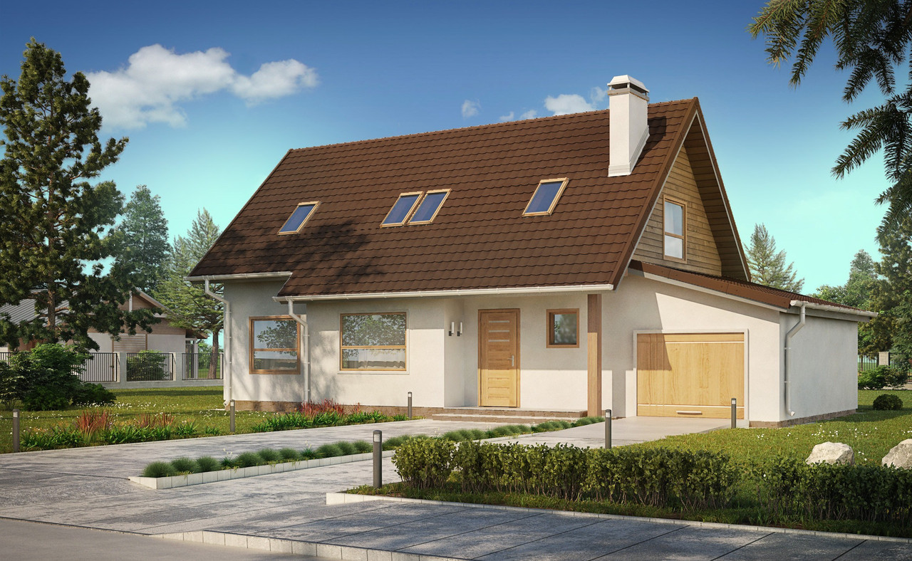 Строительство коттеджей и малоэтажных домов. Проект Дома № 2,66
