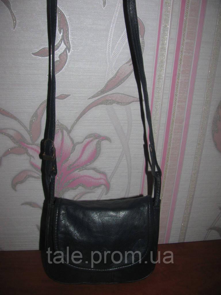 0544a0d6eedd Темно-синяя кожаная сумка на длинной ручке - Интернет-магазин
