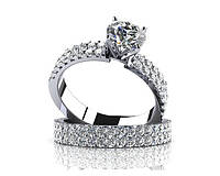 Кольца серебряные Помолвочные Бриллиант Tiffany&Co 2680