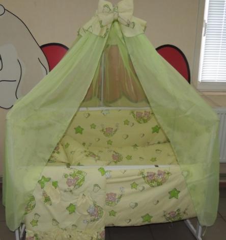 Комплект детского постельного белья Тэдди в гамаке ТМ Bonna 9 в 1 салатовый