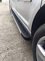Volkswagen Caddy 2010-2015 гг. Боковые площадки Maya V1 (2 шт., алюм.) Макси база