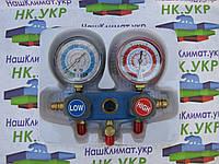 Коллектор 2-х вент. с манометром CT 236 (R22, R404a, R134A) c 3-мя шлангами, фото 1