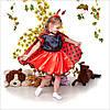 Детский новогодний костюм девочки для Божья коровка 3-7 лет