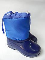 Детские резиновые сапоги  26-30 р.СКД-1 синий