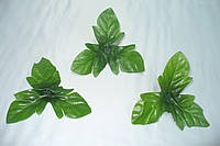 Листочек тройной розы средний зел, 6 см