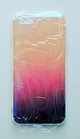 Чехол-накладка Пластик Силиконовые грани под углом блестит Градиент для Apple iPhone 6/6s Прозрачный