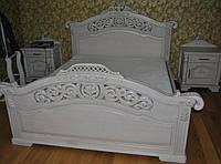 """Кровать """"Форт"""" из массива с резьбой"""