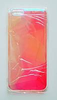 Чехол-накладка Пластик Силиконовые грани под углом блестит Фигуры для Apple iPhone 6/6s Прозрачный
