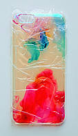 Чехол-накладка Пластик Силиконовые грани под углом блестит Краски для Apple iPhone 6/6s Прозрачный