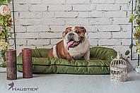 Лежак-понтон для собак средних и крупных пород Haustier Green Lawn 100x70