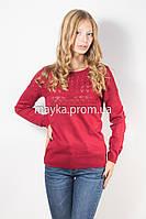 Кофта пуловер женская трикотаж бордо Кристина р.46