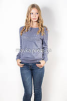 Кофта пуловер женская трикотаж Джинс Кристина р.48