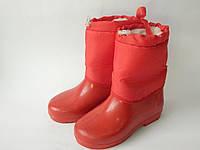 Детские резиновые сапоги  26-30 р.СКД-1 красный