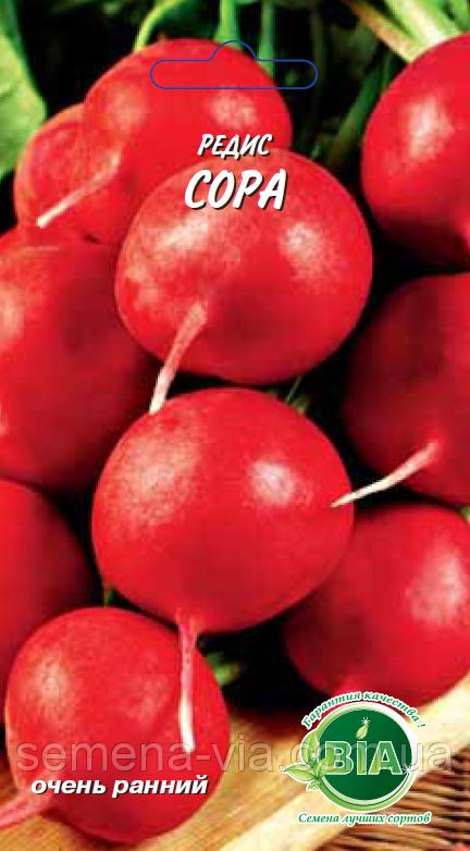 Редис Сора (3 г.) Семена ВИА (в упаковке 20 пакетов)