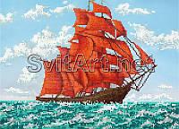 SvitArt 30х40 SI-118 Корабль, схема под бисер