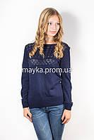 Кофта пуловер женская темно-синяя Кристина р.46