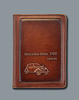 """Прикольная обложка на водительские права с кожаным тиснением """" Mercedes benz """" купить недорого"""