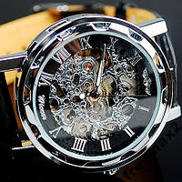 Мужские часы механика WINNER Hollow BLACK УПАКОВКА !!!