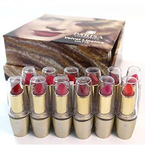 Parisa Губная помада L-05 Velvet золотая (Набор 12шт) №A - красные, ягодные матовые