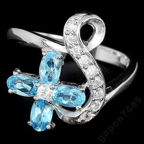 Кольцо серебряное 925 с натуральн. топазами р17.35