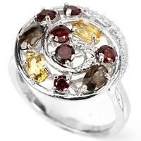 Кольцо серебряное 925 с натуральными камнями р17.7