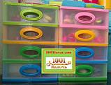 """Комод-органайзер """"Mini Medium"""", пластиковый на 4 секции бежевый, фото 5"""