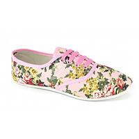 Кеды в цветочек розовые Floral sneakers, Разноцветный, 41