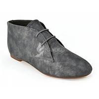 Ботинки женские серый металлик дезерты, Серый, 40