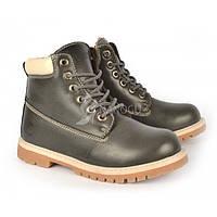 Ботинки женские зимние эко-кожа темно-серые «Каприз», Черный, 39