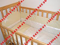 """Детское постельное белье в кроватку+Конверт на выписку (8 ед.)-""""Горох+зигзаг"""""""