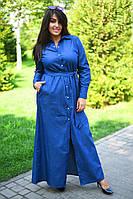 Платье рубашка БАТАЛ  пояс 20/8060