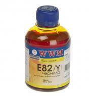 Чернила WWM Epson Stylus Photo R270/T50/TX650 Yellow (E82/Y) (G223931) 200 мл (г)