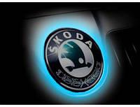 Лазерная 3D эмблема автомобиля Skoda / Шкода