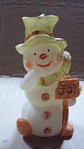 Свеча Снеговик высота 10 см
