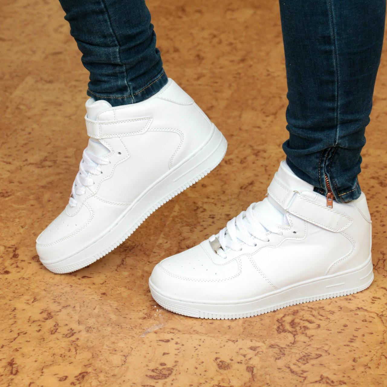 04d04ba2 Кроссовки женские в стиле Nike Air Force высокие белые 41 размер, люкс  качество - Интернет