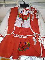 Костюм вишиванка для дівчинки (українські костюми для дівчат 1-10 років)