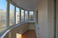 Обшивка балконов ПВХ вагонкой 25см Киев.