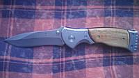 Нож складной с деревянной ручкой нож тактический качественный для туризма