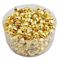 Бубенчики колокольчики Золотые 10 мм 10 шт/уп